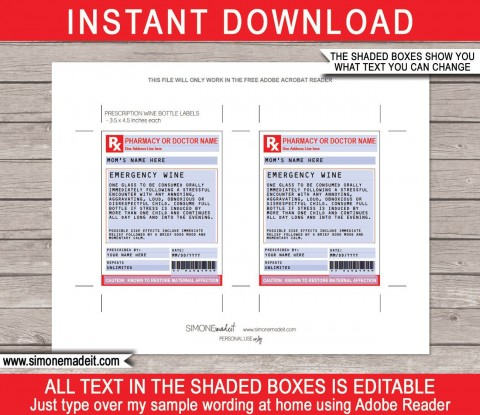002 Singular Free Fake Prescription Label Template High Def 480