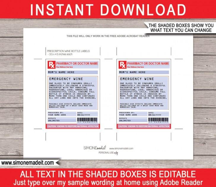 002 Singular Free Fake Prescription Label Template High Def 728