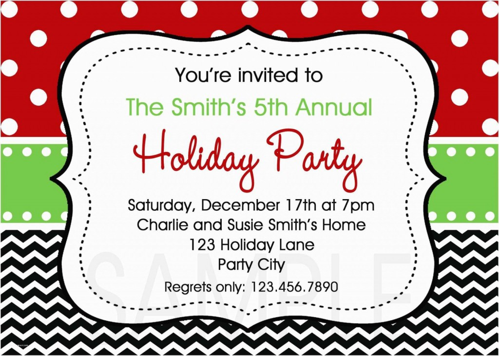 002 Singular Free Holiday Invite Template Sample  Templates Party Ticket For EmailLarge