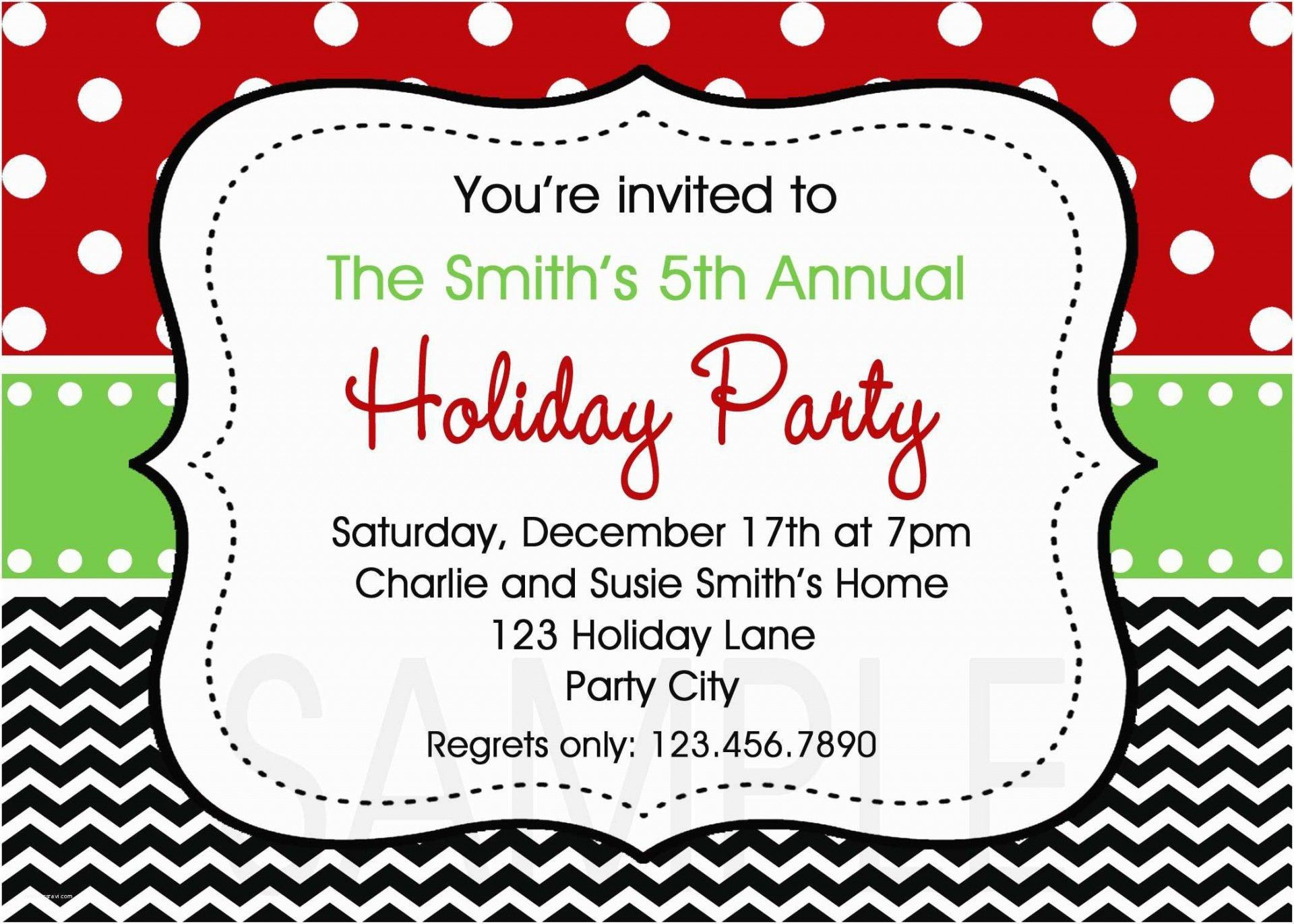 002 Singular Free Holiday Invite Template Sample  Templates Party Ticket For Email1920