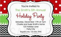 002 Singular Free Holiday Invite Template Sample  Templates Party Ticket For Email
