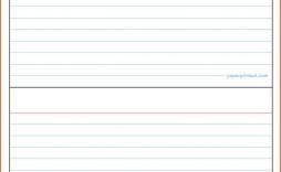 002 Singular Free Index Card Template High Definition  Printable Editable