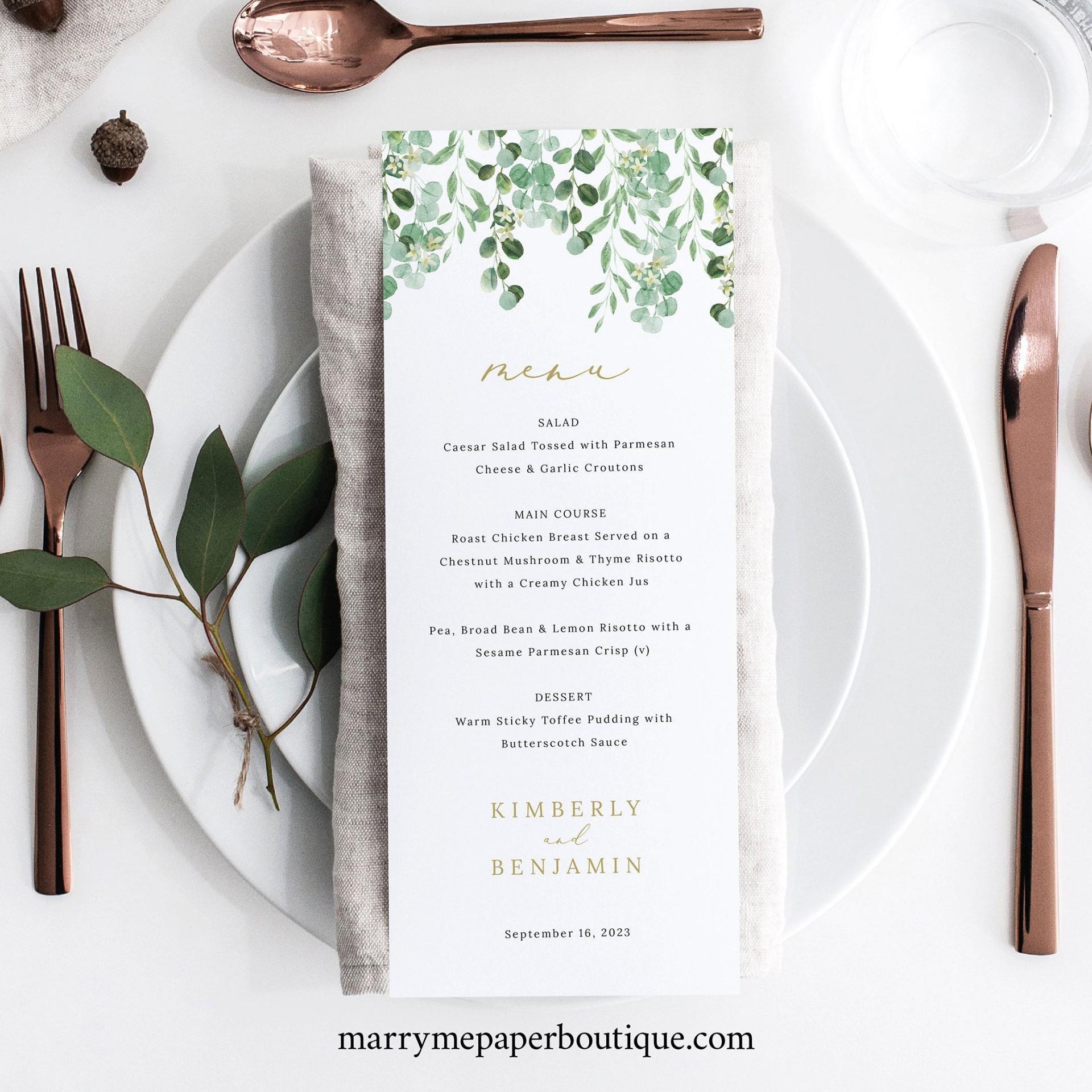 002 Singular Free Online Wedding Menu Template High Resolution  Templates1920