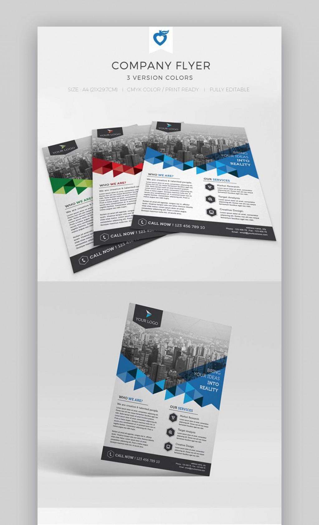 002 Singular Free Print Ad Template Sample  Templates Real Estate For WordLarge