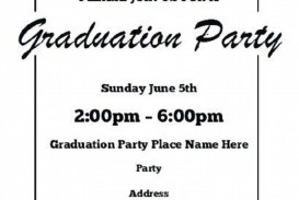002 Singular Free Printable Graduation Invitation Template High Resolution  Party For Word