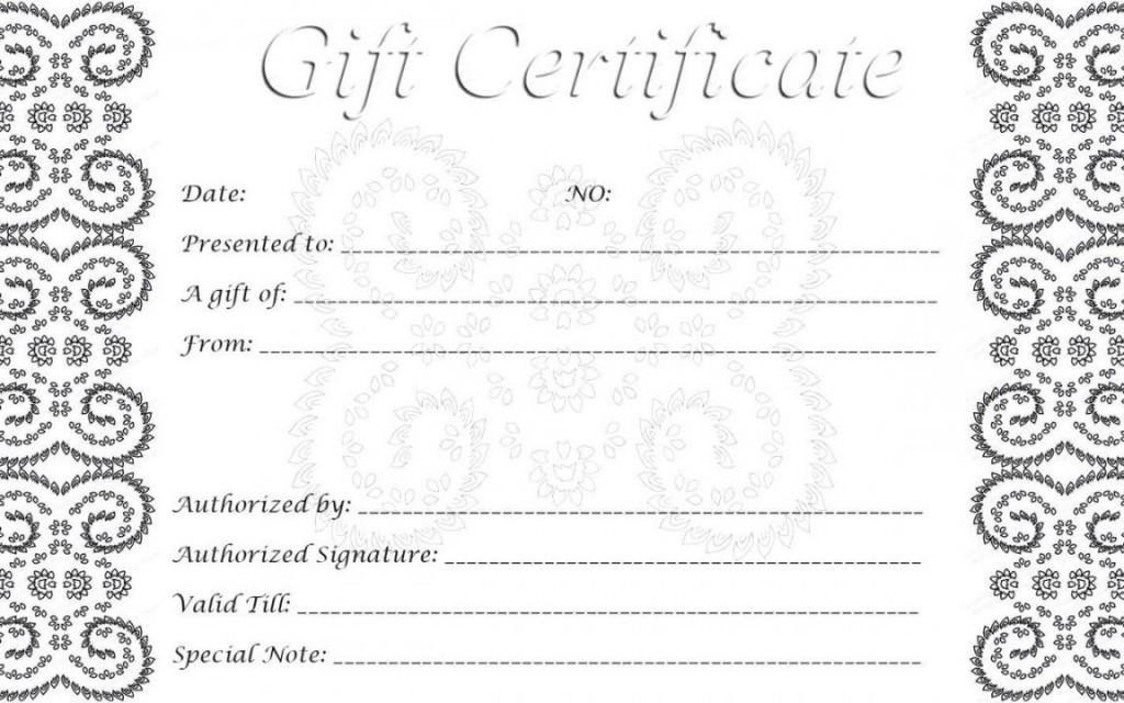 002 Singular Free Printable Template For Gift Certificate High Definition  VoucherLarge