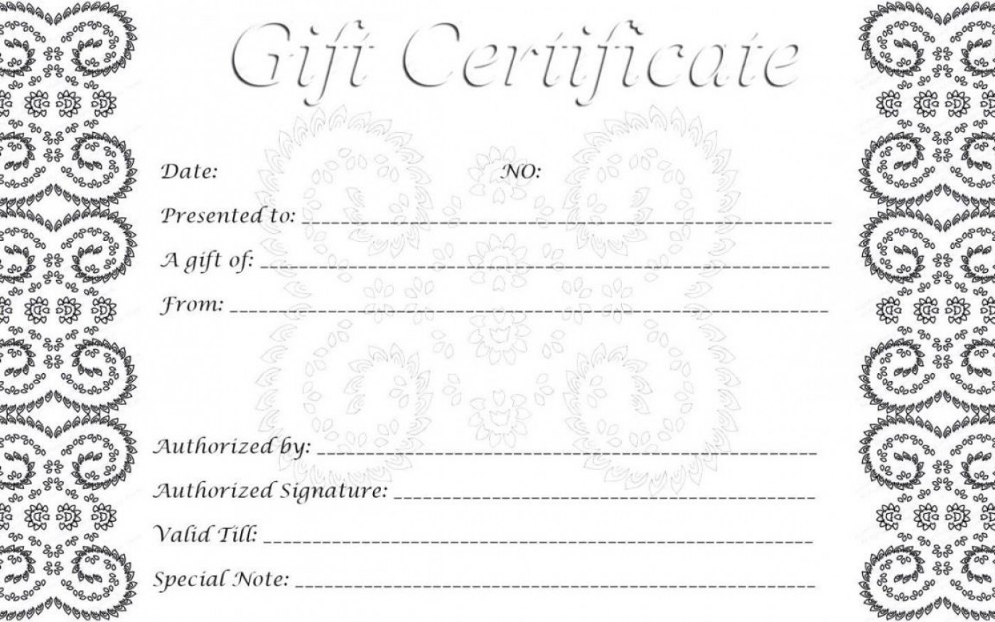 002 Singular Free Printable Template For Gift Certificate High Definition  Voucher1400