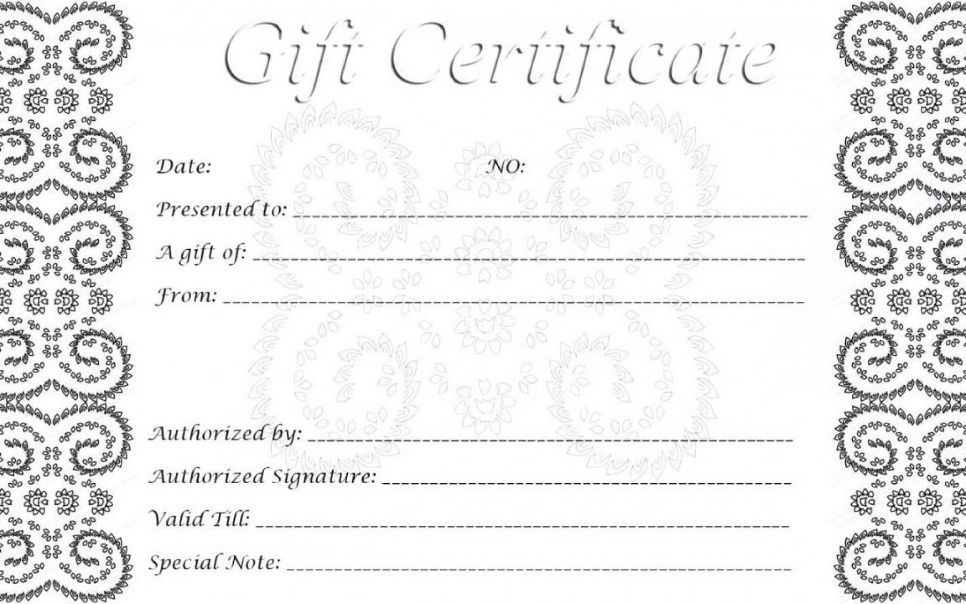 002 Singular Free Printable Template For Gift Certificate High Definition  Voucher1920