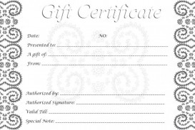 002 Singular Free Printable Template For Gift Certificate High Definition  Voucher