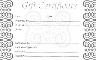 002 Singular Free Printable Template For Gift Certificate High Definition  Voucher320