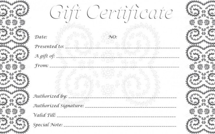 002 Singular Free Printable Template For Gift Certificate High Definition  Voucher728