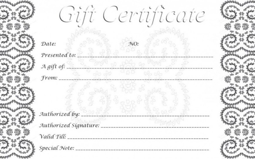 002 Singular Free Printable Template For Gift Certificate High Definition  Voucher868