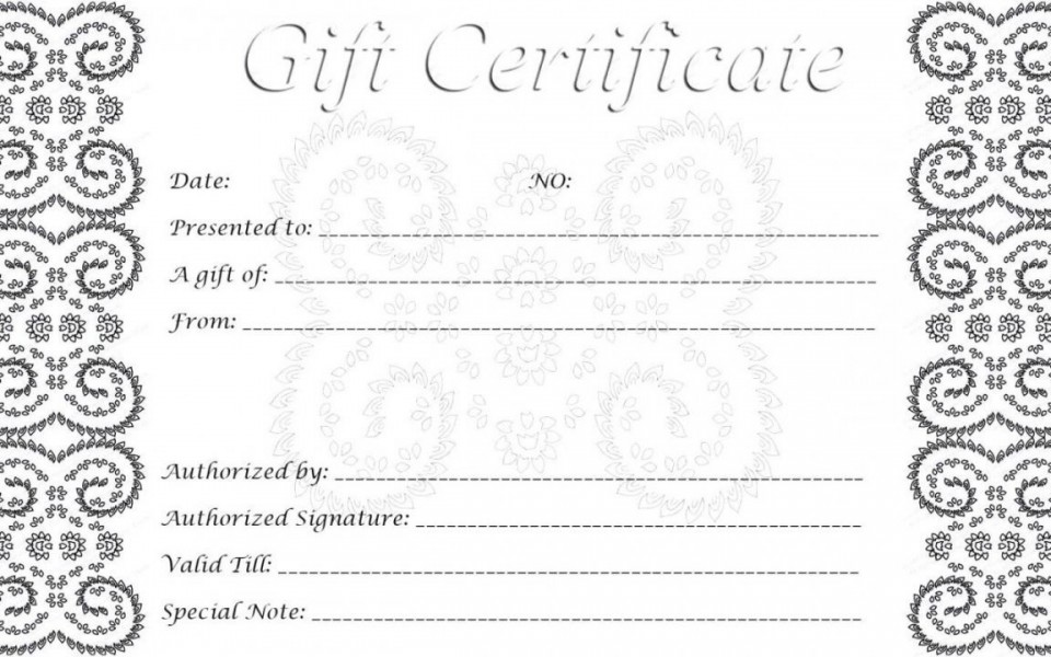 002 Singular Free Printable Template For Gift Certificate High Definition  Voucher960
