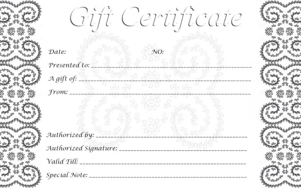 002 Singular Free Printable Template For Gift Certificate High Definition  VoucherFull