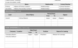 002 Singular General Application For Employment Template Design  Free
