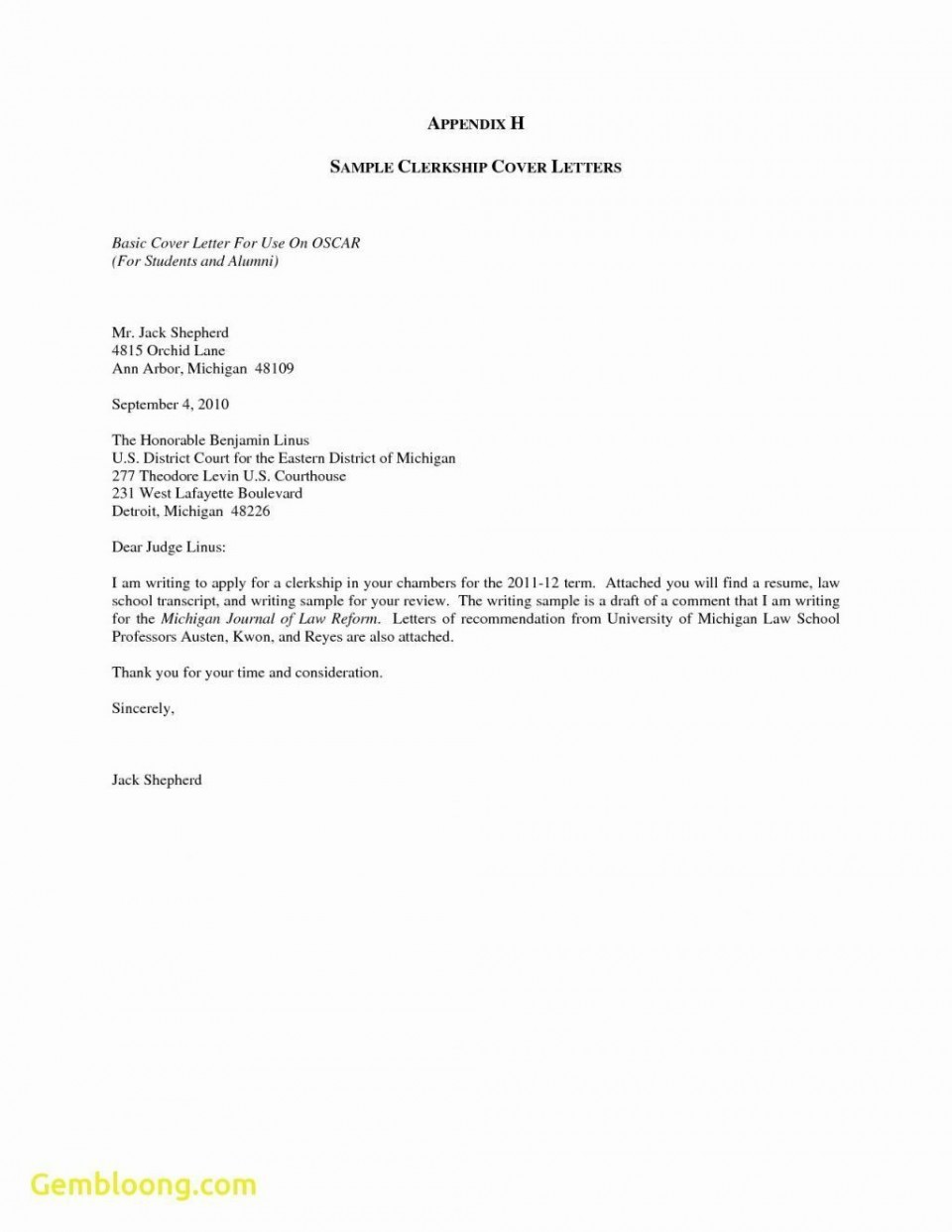 002 Singular Generic Cover Letter For Resume Concept  General Example960