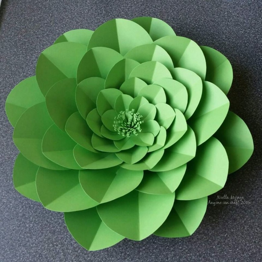 002 Singular Giant Paper Flower Template Free Download Picture