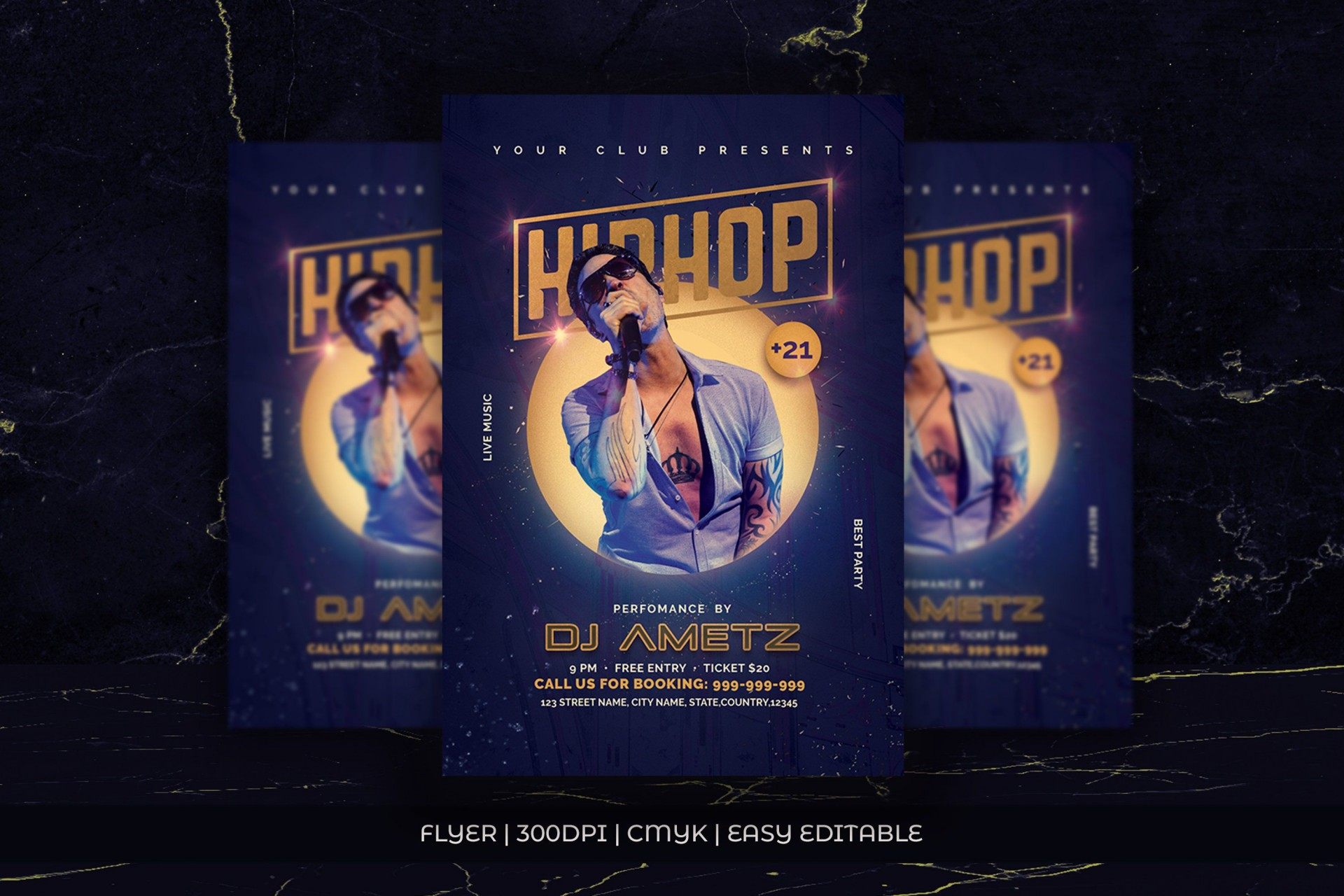 002 Singular Hip Hop Flyer Template Photo  Templates Hip-hop Party Free Download1920