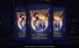 002 Singular Hip Hop Flyer Template Photo  Templates Hip-hop Party Free Download