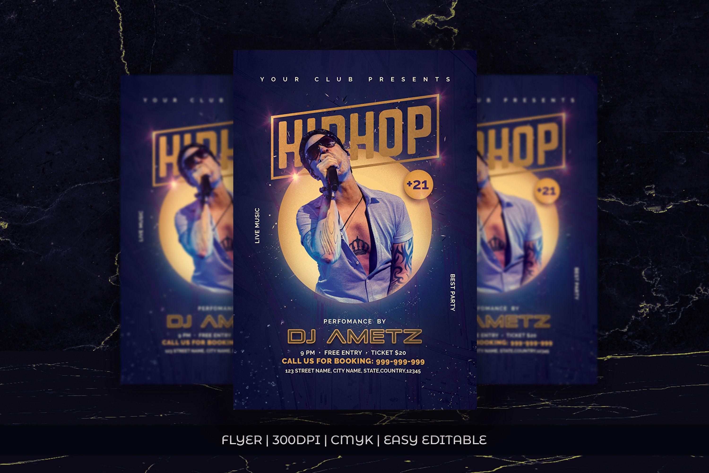 002 Singular Hip Hop Flyer Template Photo  Templates Hip-hop Party Free DownloadFull