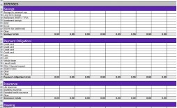 002 Singular Monthly Expense Excel Template Idea  Budget Spreadsheet Free