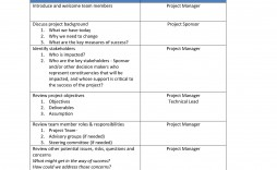 002 Singular Project Kickoff Meeting Template Photo  Management Agenda Construction Doc Email