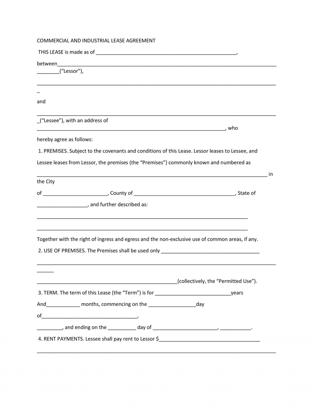 002 Singular Rent Lease Template Free Idea  Room Rental Agreement Form Residential Pdf DownloadLarge