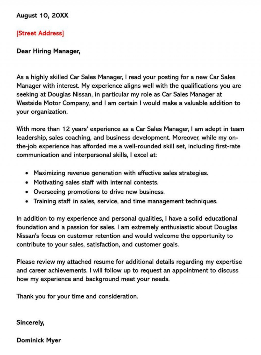 002 Singular Sale Cover Letter Template Picture  Account Manager Word RepLarge