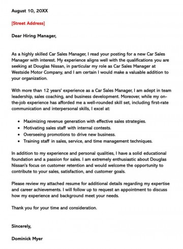 002 Singular Sale Cover Letter Template Picture  Account Manager Word Rep360