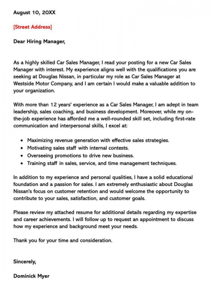 002 Singular Sale Cover Letter Template Picture  Account Manager Word Rep728