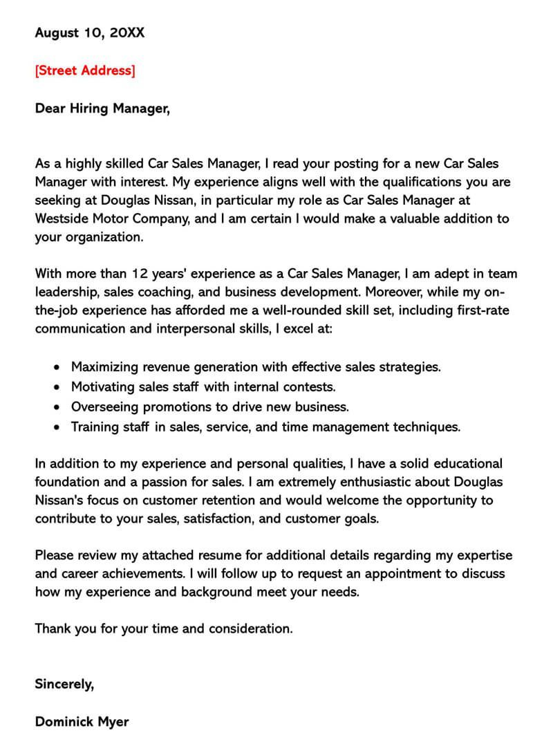 002 Singular Sale Cover Letter Template Picture  Account Manager Word RepFull