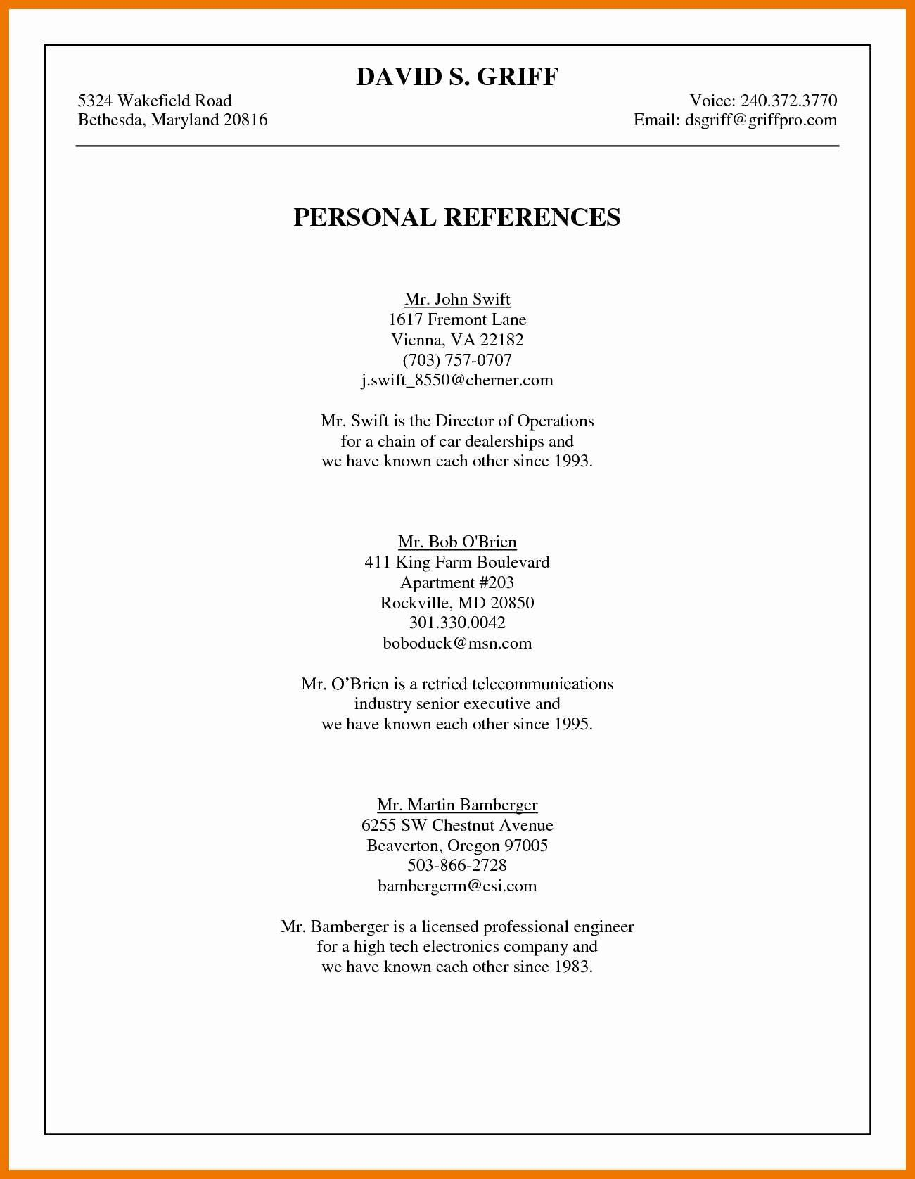 002 Singular Sample List Of Reference Template Photo