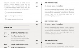 002 Singular Single Page Resume Template Sample  One Word For Experienced Fresher