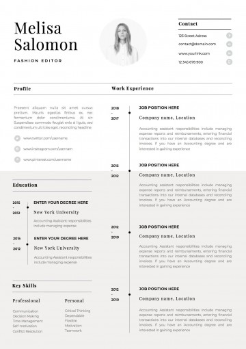 002 Singular Single Page Resume Template Sample  Cascade One Free Download Word For Fresher360