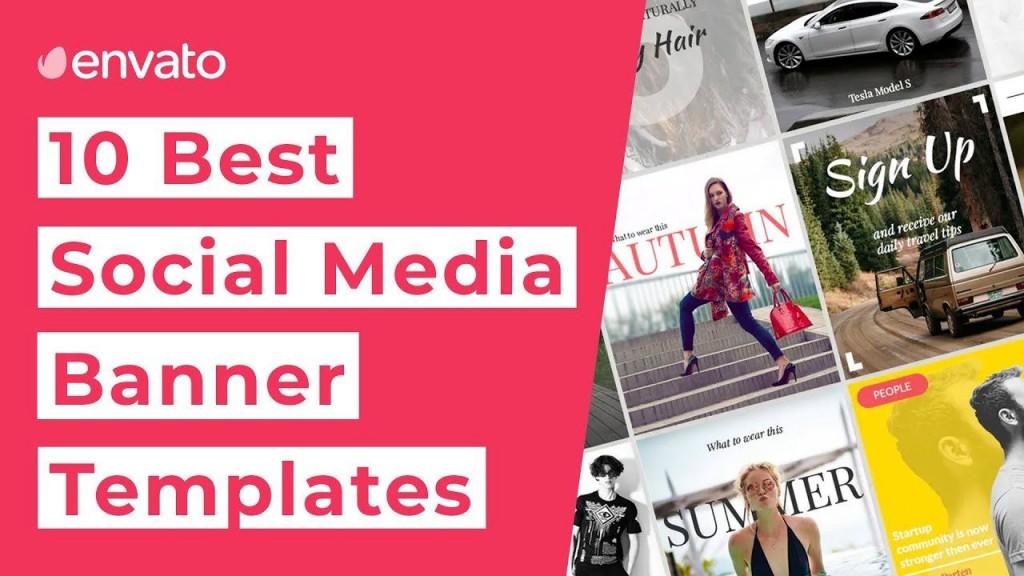 002 Singular Social Media Banner Template Free High Definition Large