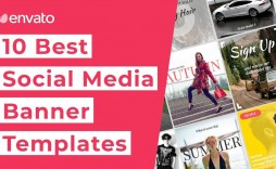 002 Singular Social Media Banner Template Free High Definition