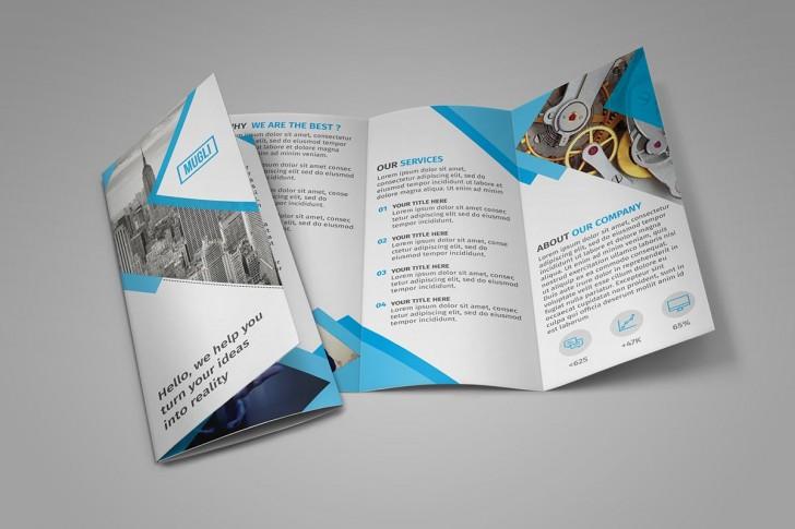 002 Singular Three Fold Brochure Template Psd Photo  Free 3 A4 Tri Download728