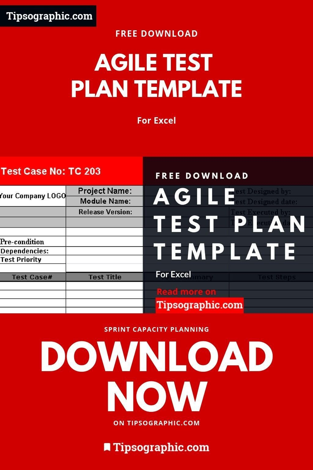 002 Staggering Agile Test Plan Template Sample  Word Example DocumentLarge
