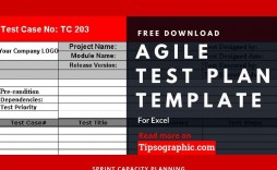 002 Staggering Agile Test Plan Template Sample  Word Example Document