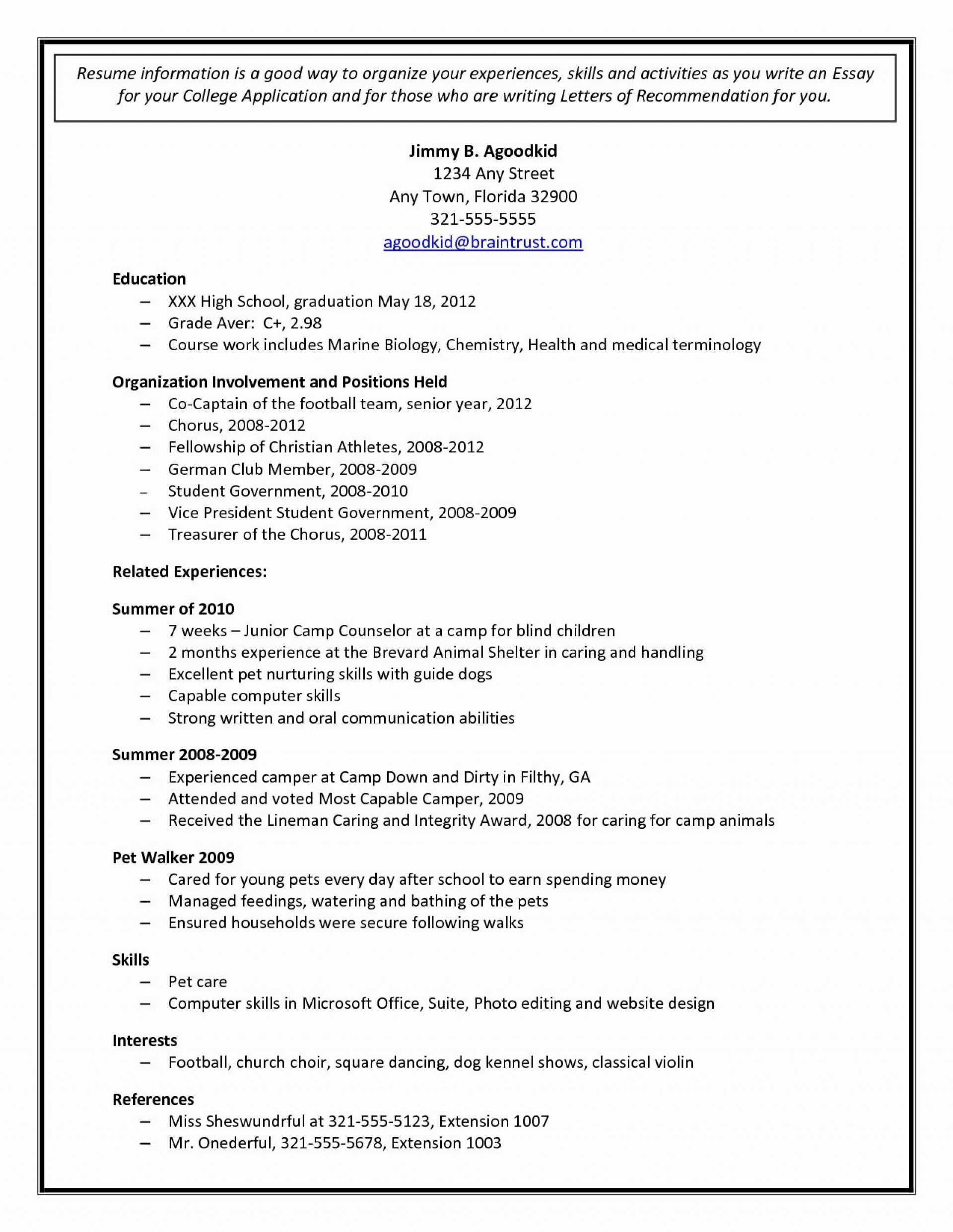 002 Staggering College Admission Resume Template High Resolution  Microsoft Word Application Download1920