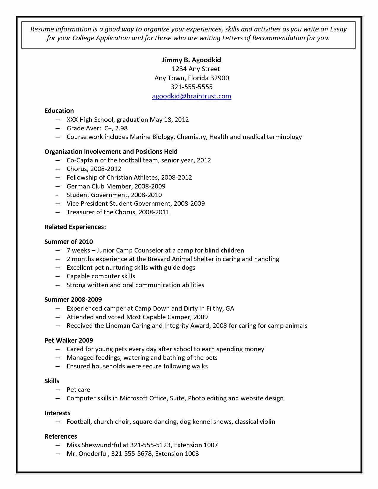 002 Staggering College Admission Resume Template High Resolution  Microsoft Word Application DownloadFull
