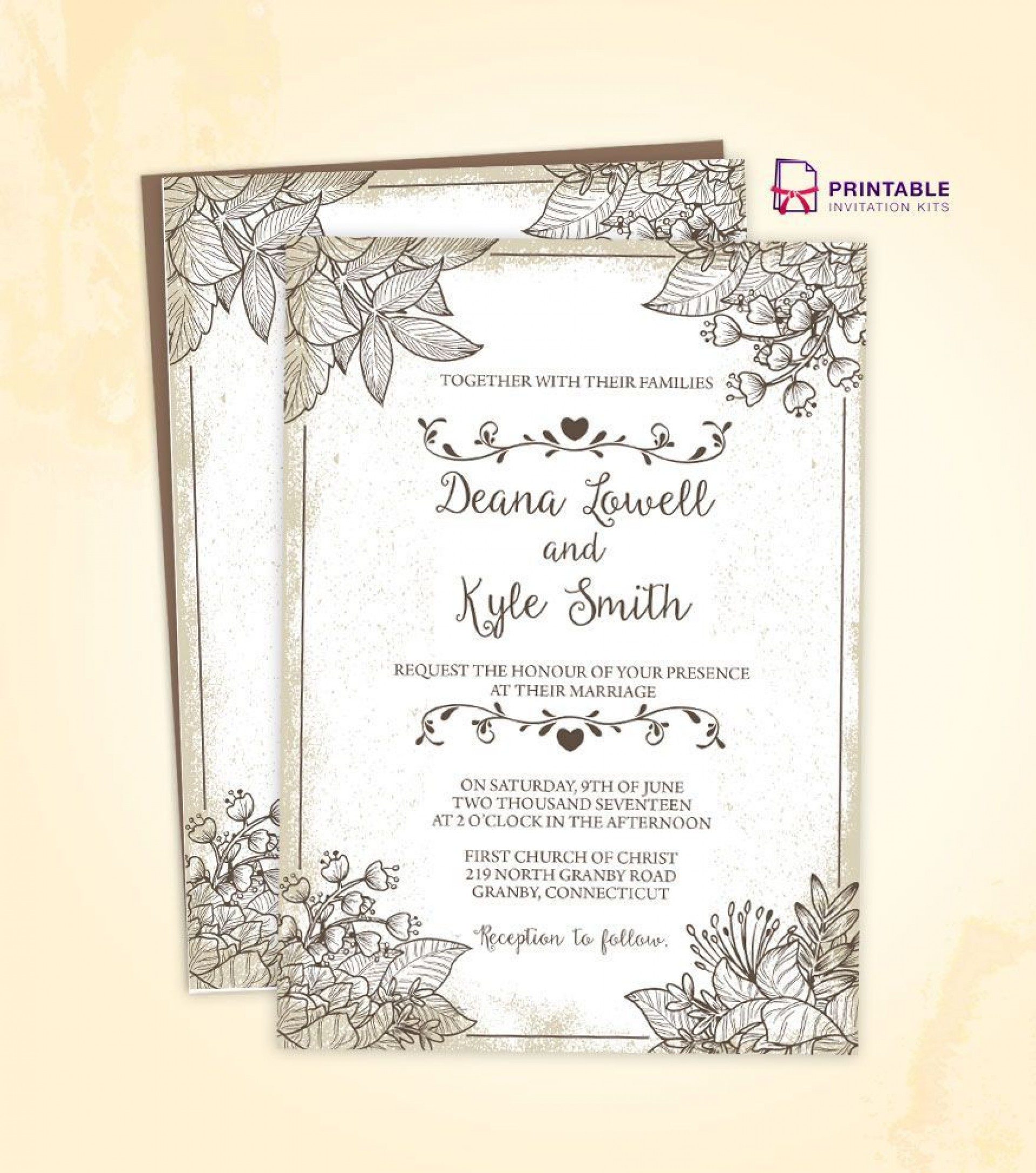 002 Staggering Free Download Wedding Invitation Template For Word Photo  Microsoft Indian1920