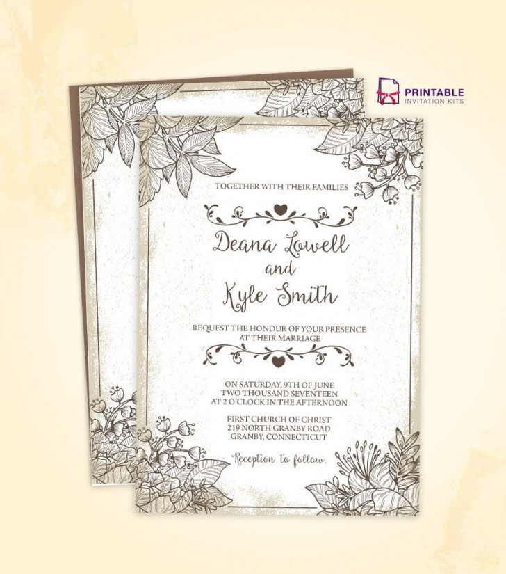 002 Staggering Free Download Wedding Invitation Template For Word Photo  Indian Microsoft728