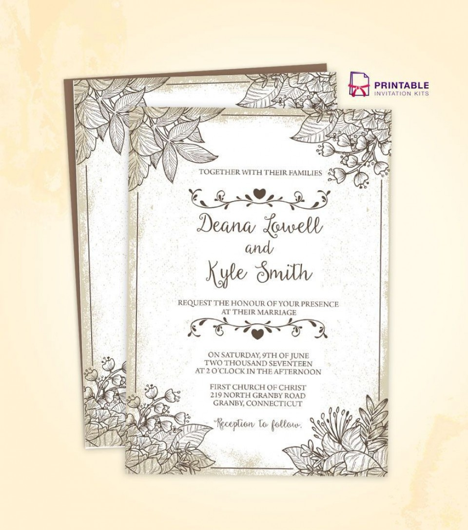 002 Staggering Free Download Wedding Invitation Template For Word Photo  Indian Microsoft960