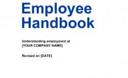 002 Staggering Free Employment Handbook Template High Resolution