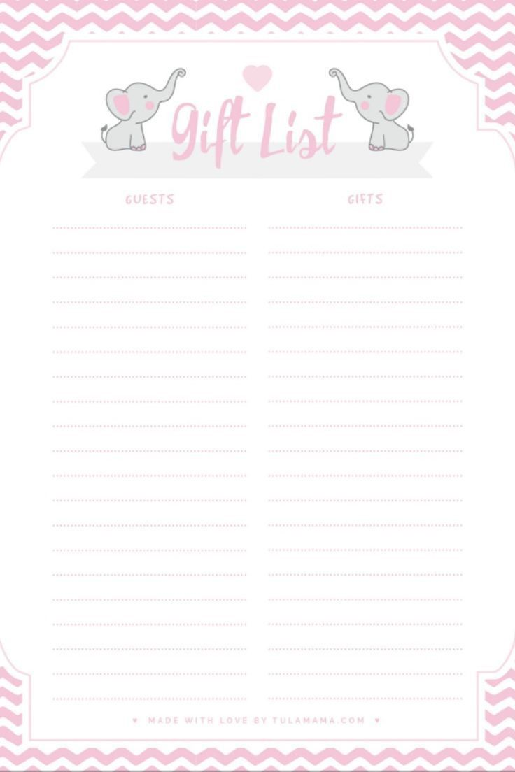002 Staggering Free Girl Elephant Baby Shower Printable Inspiration  PrintablesFull