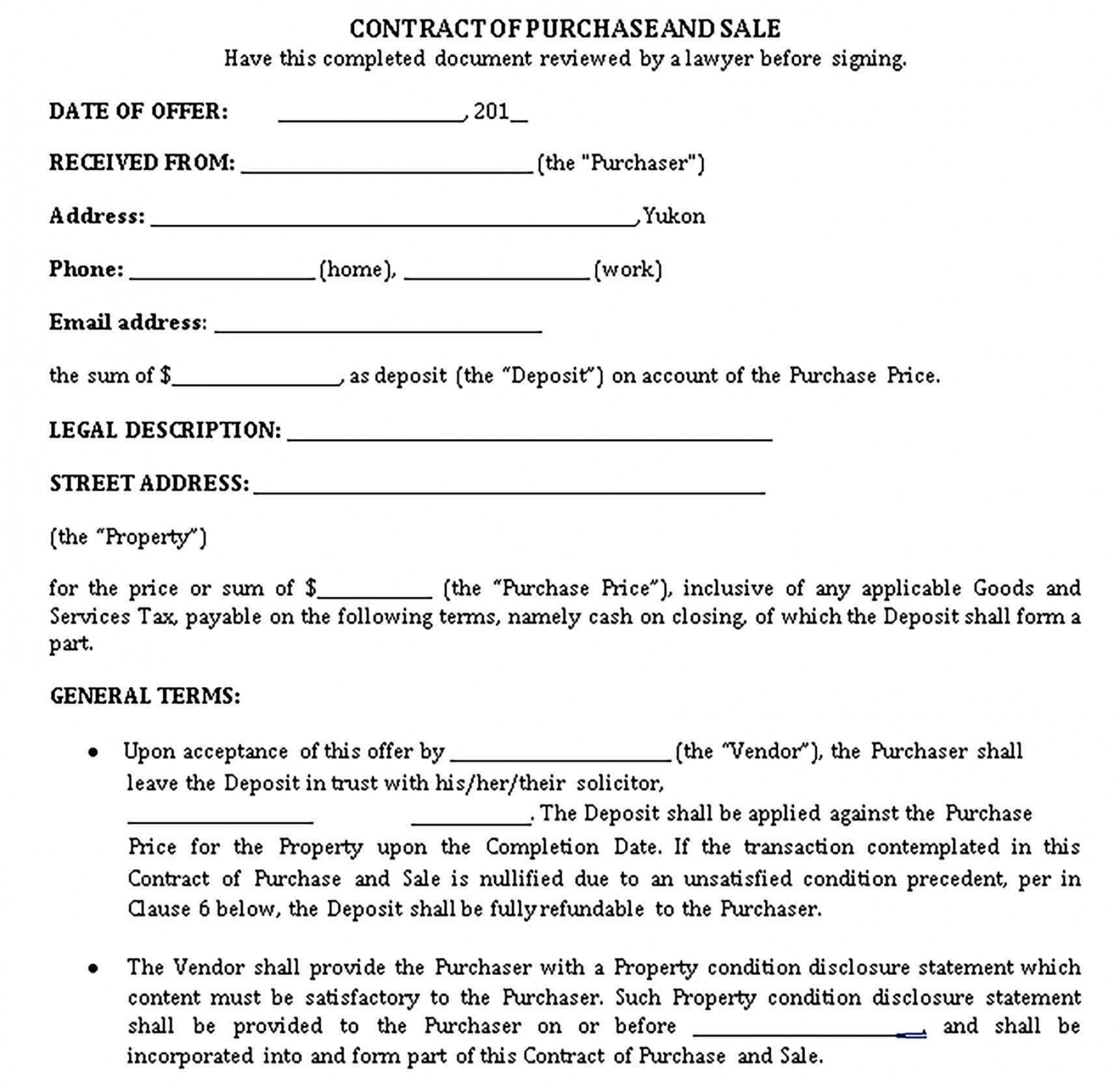002 Staggering Home Purchase Contract Template Highest Quality  Virginia Form Lease To Commercial Property1920