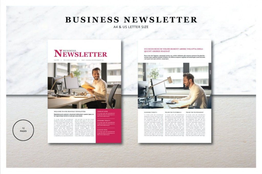 002 Staggering Indesign Newsletter Template Free Image  Cs6 Email Adobe DownloadLarge