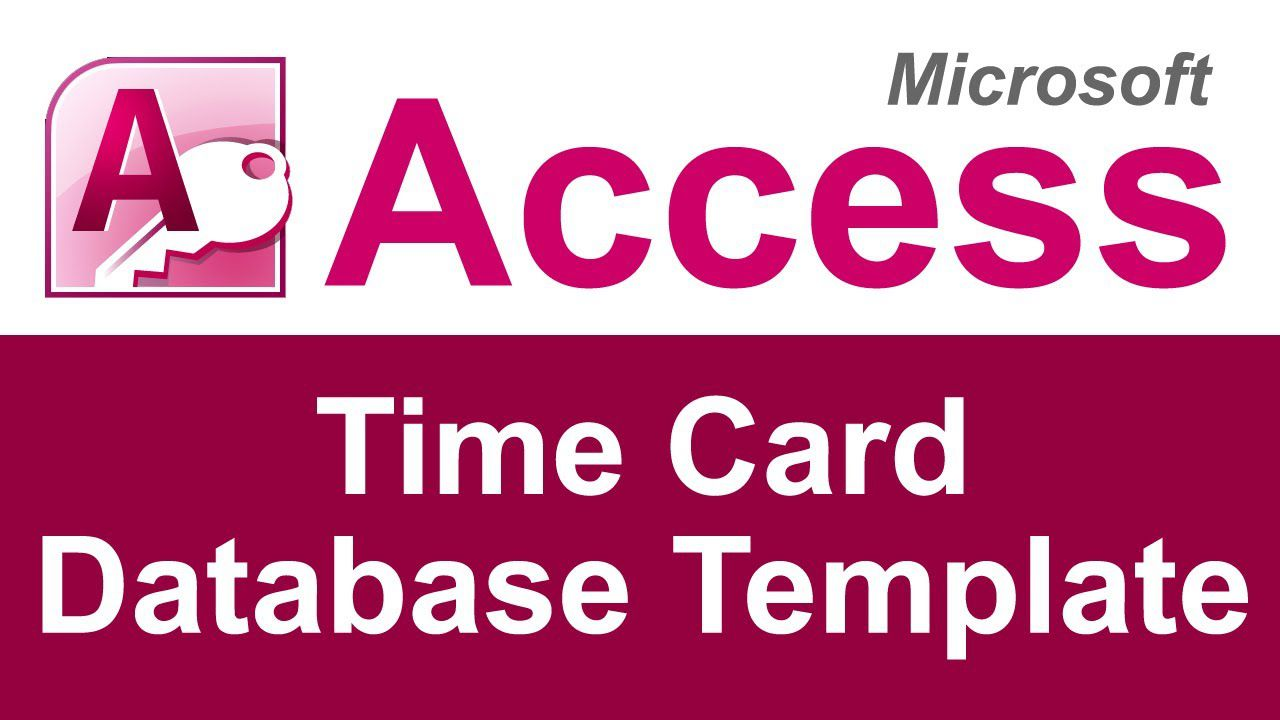 002 Staggering Microsoft Acces Employee Time Card Template Highest Quality Full