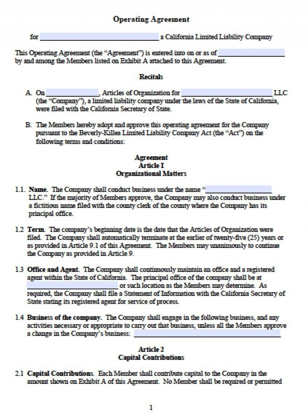 002 Staggering Operating Agreement Template For Llc Picture  Form Florida TexaLarge